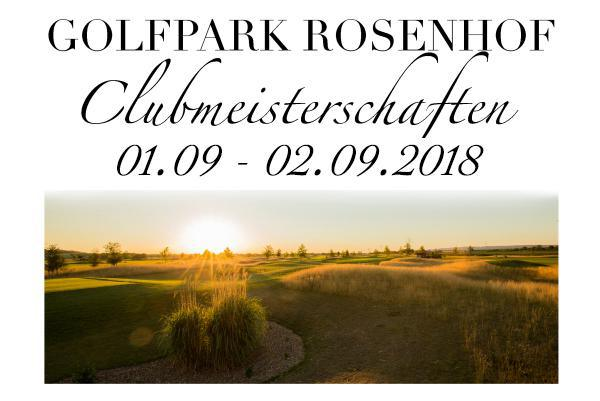 Clubmeisterschaften 2018 am 01. – 02. September 2018